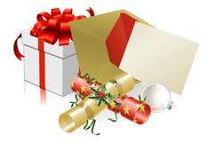 De brief van Kerstmis of nodigt scène uit Stock Fotografie