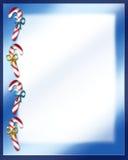 De Brief van Kerstmis van het Riet van het suikergoed Royalty-vrije Stock Afbeeldingen