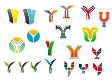 De brief Y van het alfabet vector illustratie