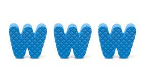 De brieven die van de spons www spellen Stock Fotografie