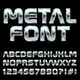 De brieven en de symbolen van de Mmetalstijl Stock Afbeelding