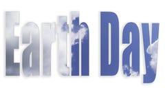 De brieven van de aardedag op witte achtergrond worden geïsoleerd die; milieuconcept royalty-vrije stock foto's