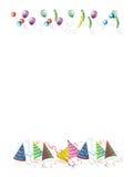 De brieven van achtergrond vieringen illustratie Stock Fotografie