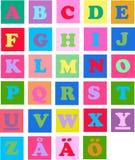 De brieven van Alphabeth Stock Foto's