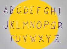 De brieven van de alfabetwaterverf handwriten royalty-vrije illustratie
