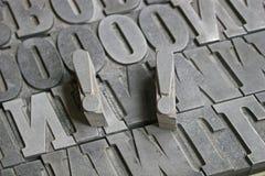 De brieven van de druk royalty-vrije stock afbeelding