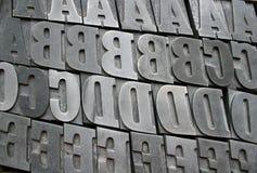 De brieven van de druk stock foto's