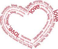 De brieven van de liefde (vector) Stock Foto's