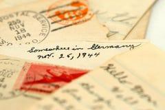 De brieven van de oorlog Stock Afbeeldingen