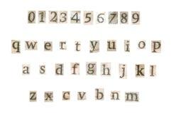 De brieven van de oude krant Stock Afbeelding