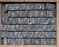 De brieven van de printer Royalty-vrije Stock Fotografie