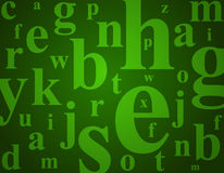 De brieven van het alfabet Vector Illustratie