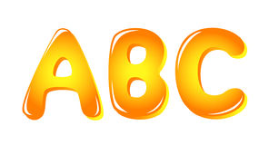 De brieven van het alfabet in zonkleuren stock illustratie