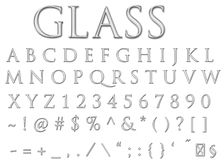 De brieven van het glas Royalty-vrije Stock Afbeeldingen