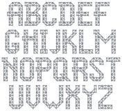 De brieven van het metaalalfabet Royalty-vrije Stock Afbeelding
