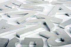De brieven van het roestvrij staal stock fotografie