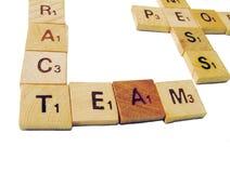De brieven van het team Stock Afbeelding
