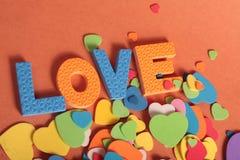 De brieven van de liefdepret stock foto