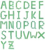 De brieven van Mahjong Stock Afbeelding