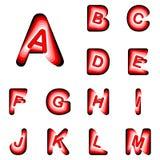 De brieven van ontwerpabc van A aan M Royalty-vrije Stock Afbeelding
