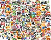 De brievenachtergrond van de krant Stock Afbeeldingen