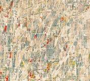 De brievenachtergrond van de kranten grunge collage Royalty-vrije Stock Afbeelding
