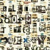 De brievenachtergrond van de krantencollage Royalty-vrije Stock Foto's