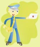 De brievenbesteller Royalty-vrije Stock Fotografie