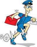 De brievenbesteller in het vliegen sandals Stock Afbeelding