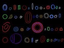 De brievenO inzameling van het neon Royalty-vrije Stock Fotografie