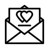 De brievenpictogram van de liefde Stock Foto's