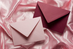 De brievenroze van de liefde Stock Afbeelding