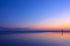 De Brightlingsea toujours coucher du soleil de plein hiver Image stock