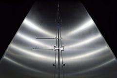 De briljante lift in Ostankino-Televisietoren die op hoogte van 337 meters opheffen royalty-vrije stock afbeelding