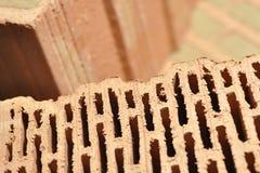 De briques de céramique avec des cavités image libre de droits
