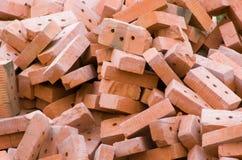 De briques de céramique rouge Photographie stock