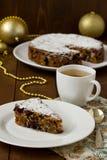 De Britse cake van Kerstmis Royalty-vrije Stock Foto's