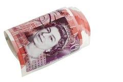 De Britse cirkel van het pond Sterlingbankbiljet Royalty-vrije Stock Afbeeldingen
