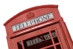 De Britse Doos van de Telefoon met Weg (Dichte Mening) Stock Fotografie