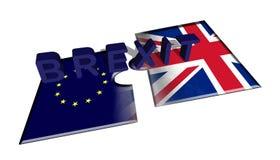 De Britse Europese vertragingen brengen 2 peaces op witte achtergrond in verwarring royalty-vrije illustratie