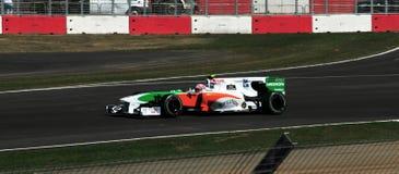 De Britse Grand Prix 2010 van Liuzzi van Vitantonio Stock Afbeelding