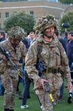 De Britse Militairen van het Leger royalty-vrije stock afbeelding