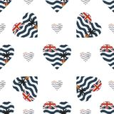 De Britse patriottische vlag van het Grondgebied van Indische Oceaan stock illustratie