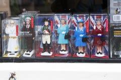 De Britse pictogrammen in een herinneringsgift winkelen op 28 Mei, 2015 in Londen Stock Foto's