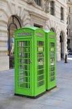 De Britse telefoon gaat in de Stad van Londen, Stock Afbeeldingen