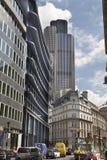 De Britse telefoon gaat in de Stad van Londen, Stock Foto's