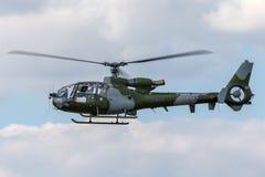 De Britse van de Luchtkorpsen van het Legerleger Gazelle AH van Westland 1 helikopter XZ334 royalty-vrije stock afbeeldingen