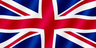 De Britse vlag van Union Jack. Royalty-vrije Stock Afbeeldingen