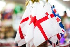 De Britse Vlaggen van Engeland en Royalty-vrije Stock Foto