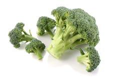 De broccolikool op witte achtergrond isoleert royalty-vrije stock foto's